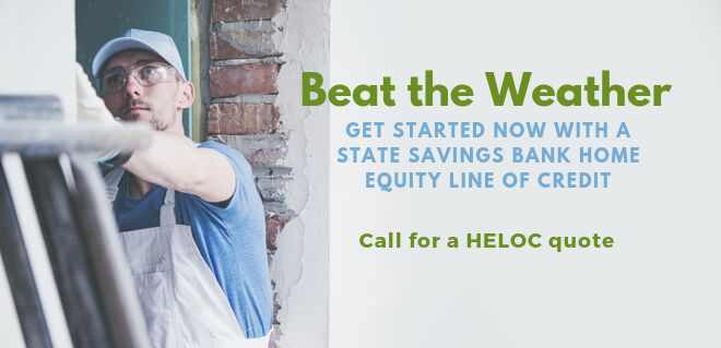 Beat the Weather. Get Started now with a Home Equity Line of Credit.